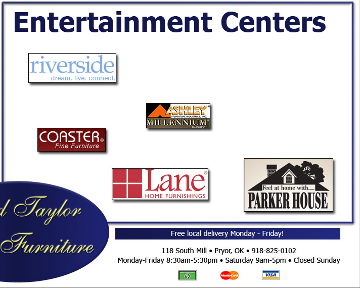 Fred Taylor Furniture   Entertainment Centers.